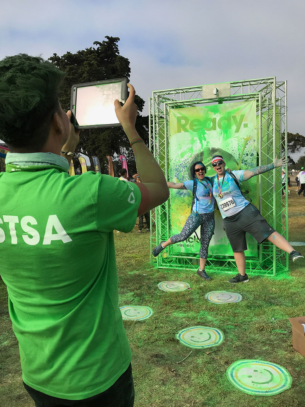 Cricket Wireless activation at The Color Run